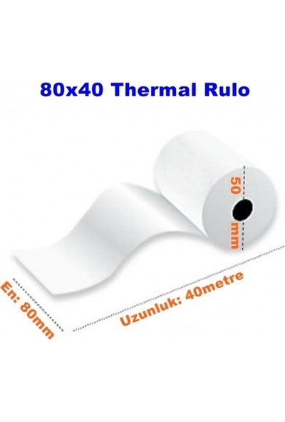 Kasetsan 80 X 40 Termal Rulo