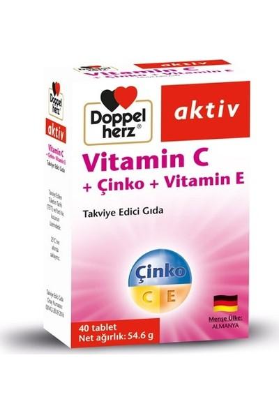 Doppelherz Aktiv Vitamin C+ Çinko+ Vitamin E 40 Tablet
