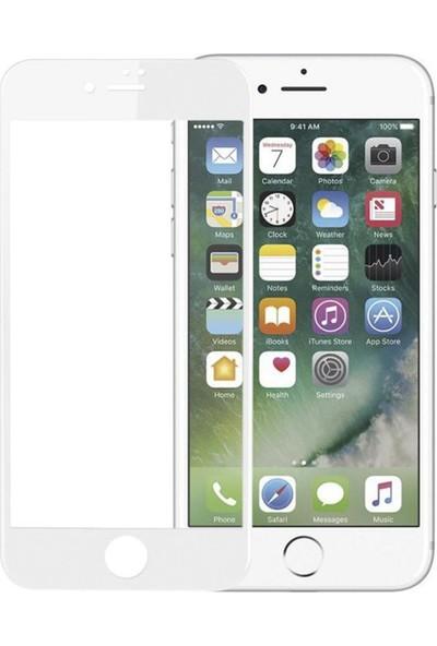 Bufalo Flexible Nano 5D Apple iPhone 7-8 Plus Kavisli Renkli Ekran Koruyucu Beyaz