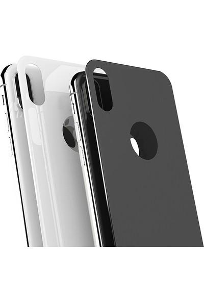Bufalo iPhone 7 Plus -8 Plus Kavisli 4D ARKA Cam Ekran Koruyucu Beyaz