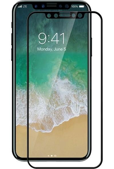 Bufalo Apple iPhone X Kavisli 5D Cam Ekran Koruyucu Siyah