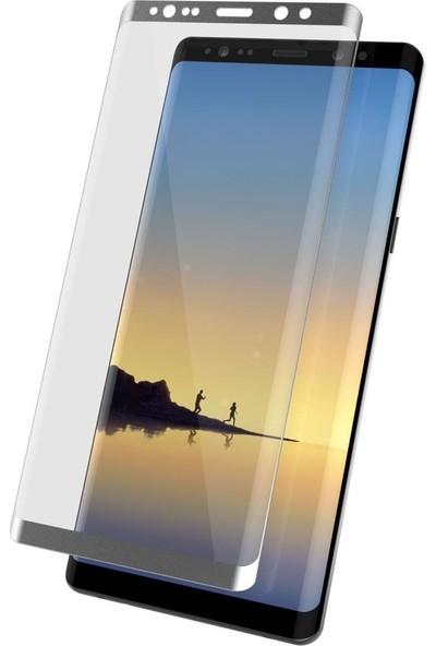 Bufalo Samsung Note 8 (N950) Kavisli 4D Cam Ekran Koruyucu Silver