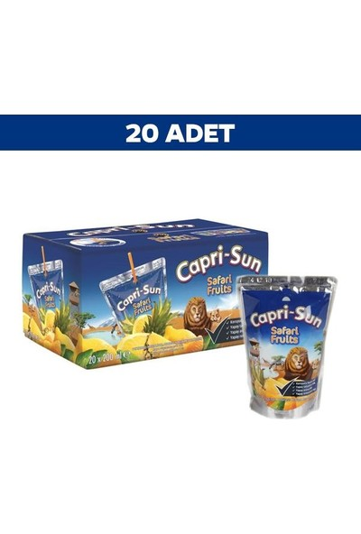 CapriSun Safari Meyve Suyu 200 ml x 20' li