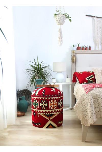 Lorence Home Bozok Kilim Puf - Frigya