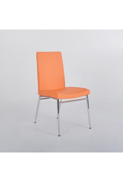 Boo Lily Kolçaksız Sandalye Turuncu