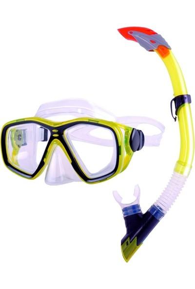 Bermuda Tempered Pro Maske Snorkel Seti - 33823ATSS