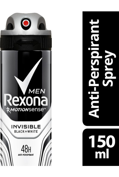 Rexona Deodorant Sprey Invisible Black White 150 ml