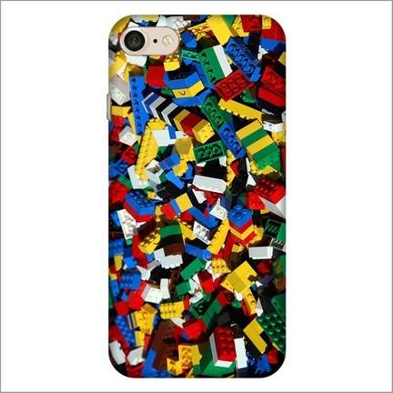 hot sale online afdef e7fd0 Cekuonline iPhone 8 Desenli Esnek Silikon Telefon Kapak Kılıf - Lego