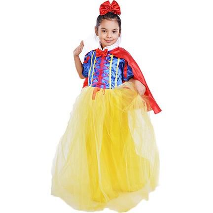 610a717190d31 Bebebebek Pamuk Prenses Kostümü Yakalı Pelerinli - Kız Çocuk Abiye 10 Yaş.  ‹ ›