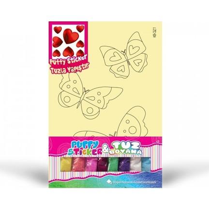 Artikel Kb 321 Kelebek Tuz Boyama Kalp Puffy Fiyatı
