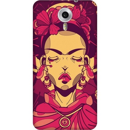 Cekuonline General Mobile 4G Android One Desenli Esnek Silikon Telefon  Kapak Kılıf - Frida Mandala