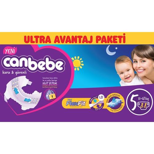 Canbebe Bebek Bezi Ultra Avantaj Paketi 5 Beden 88' li