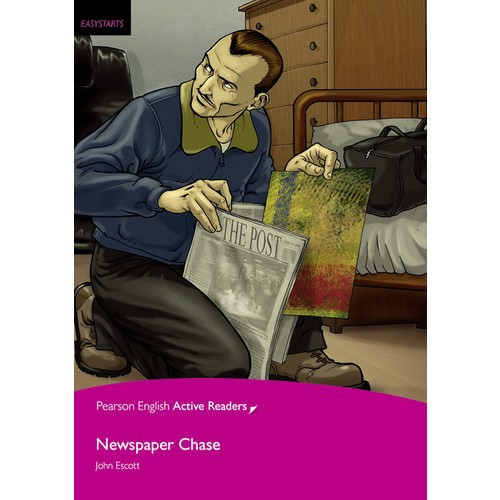 Newspaper Chase - Penguin English Active Readers Easy Startes (Book + Mp3 Pack)