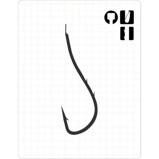 Fudo 2901 Ryusen Çift Tırnak Black Nikel Olta İğnesi