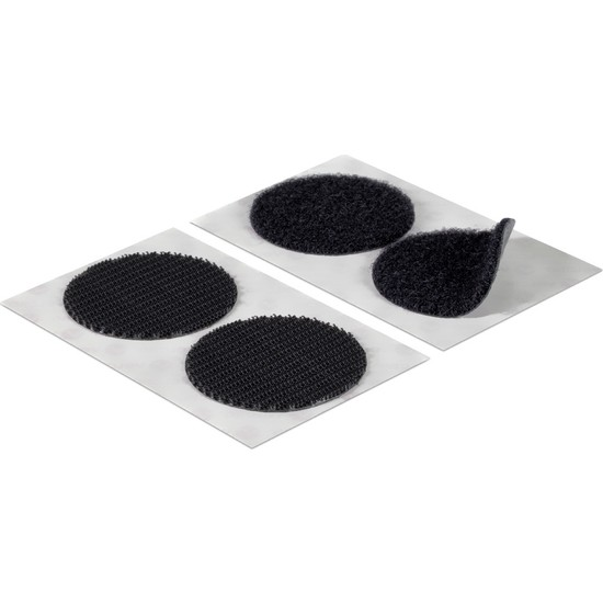 Aso Cırt Bant Yuvarlak Arkası Yapışkanlı 1,5 cm Siyah 50 Adet (Dişi Erkek Takım)
