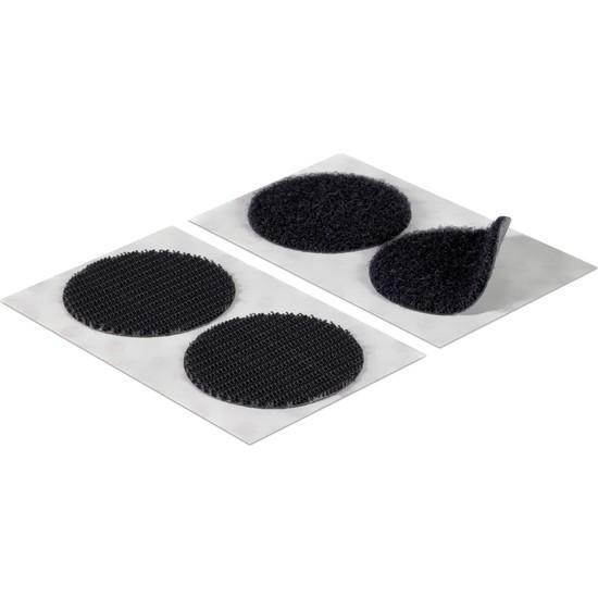 Aso Cırt Bant Yuvarlak Kesim Arkası Yapışkanlı Takım Siyah 2 cm 500 adet