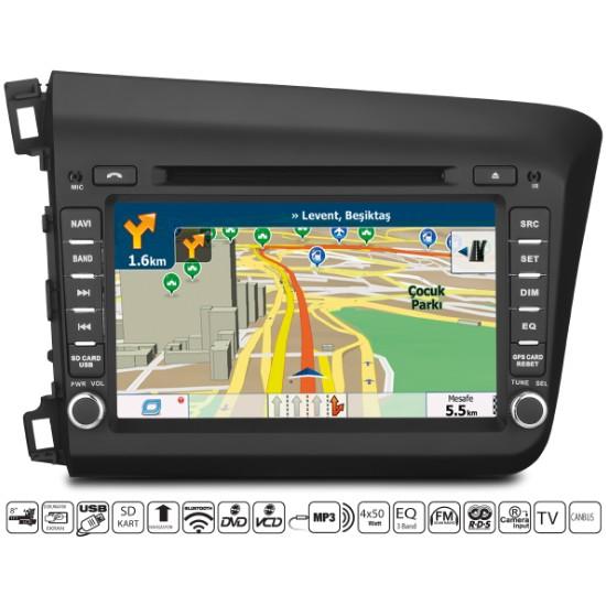Navimate Honda Civic Android Navigasyon Multimedya Tv Oem