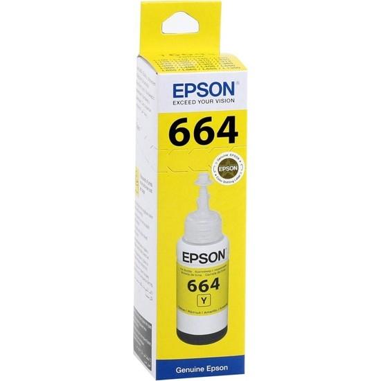 Epson T6644 Sarı Mürekkep L100-200-120-L1300-L110-L300-L455 (70ml)