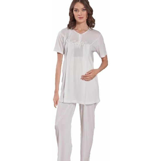 Emose 3948 Lohusa-Hamile KısaKol Pijama Takım