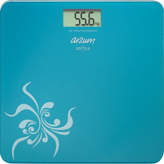 Arzum AR 550 Sottile Dijital Cam Banyo Baskülü Mavi
