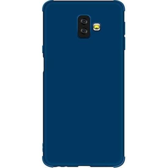 Teleplus Samsung Galaxy J6 Plus Mat Neva Silikon Kılıf Lacivert + Nano Ekran Koruyucu
