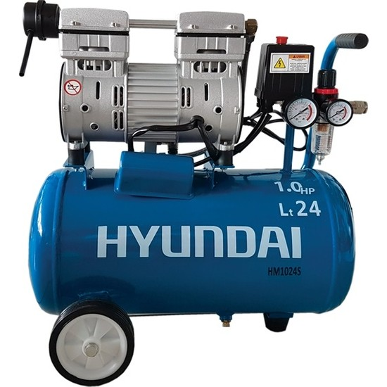 Hyundai Kompresör Sessiz & Yağsız 750W 24 Lt