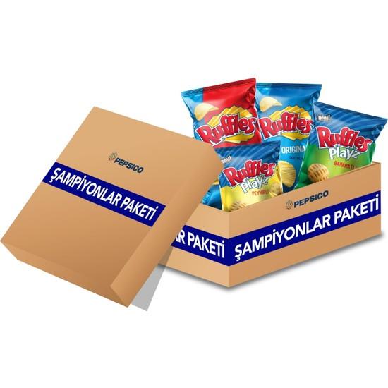 Frito Lay Ruffles Şampiyonlar Paketi (4 Çeşit Ruffles)
