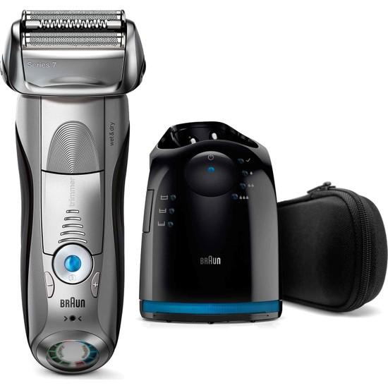 Braun Series 7 7899cc Erkek Elektrikli Folyo Tıraş Makinesi, Islak ve Kuru Tıraş Makinesi, Temizleme ve Şarj İstasyonu