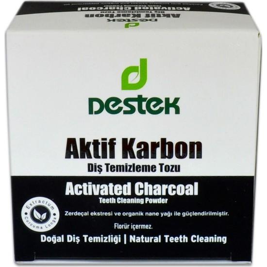Destek Aktif Karbon Diş Temizleme Tozu 30 gr