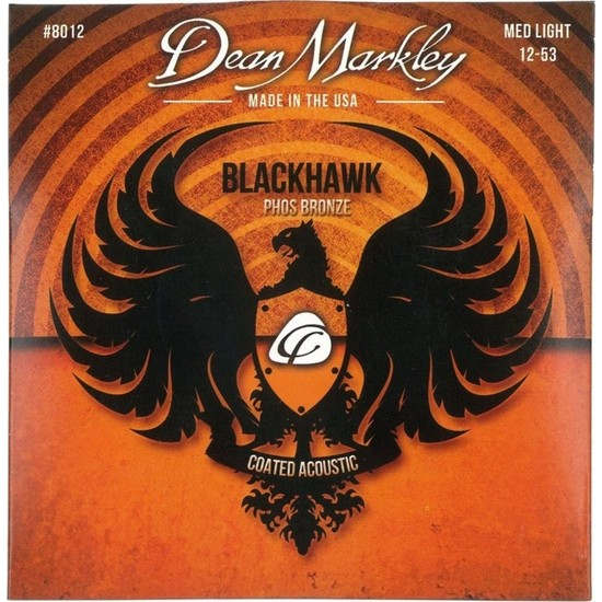 Dean Markley Blackhawk 8012 Kaplamalı 12-53 Medium Light Akustik