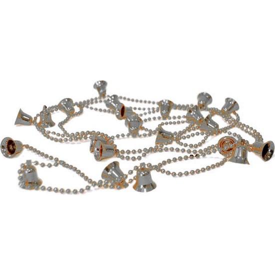 Balonpark 1 Adet Gümüş (Gri) Çanlı Zincir Yılbaşı Çam Ağacı Süsü