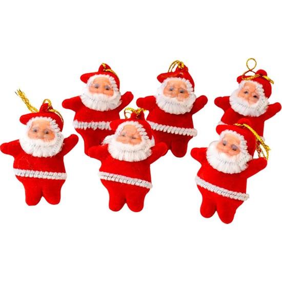 Balonpark 6 Adet Küçük Noel Baba Yılbaşı Çam Ağacı Süsü