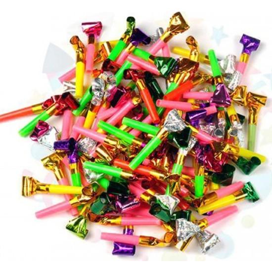 Balonpark 60 Adet Rengarenk Parti ve Yılbaşı Düdüğü - Çocuklara Hediyelik