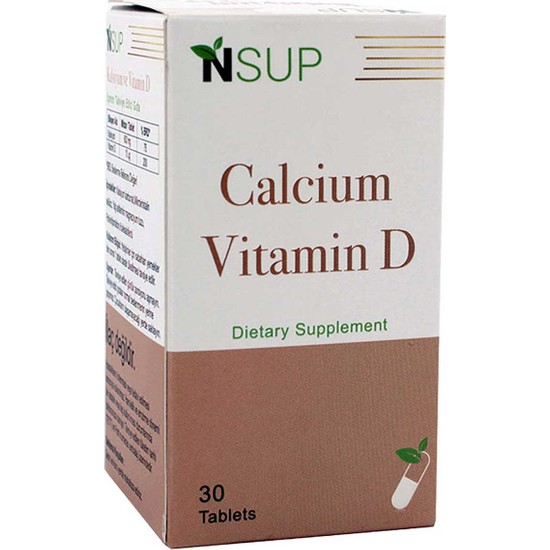 Nsup Vitamin D3 & Calcium 1400 Mg 30 Tablet