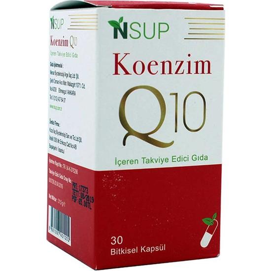 Nsup Koenzim Q10 - 100 Mg 30 Vegeteryan Kapsül