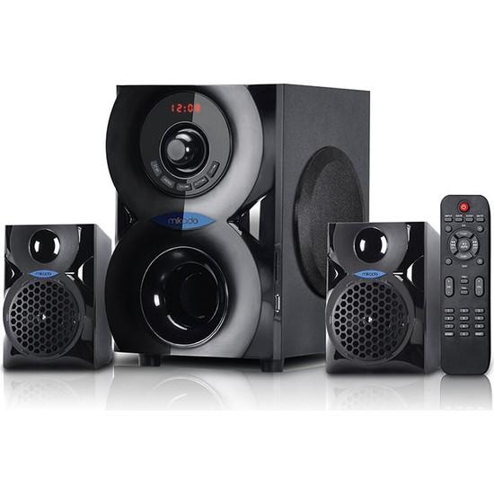Mikado Md-201Bt Siyah 2+1 Bluetooth Usb+Sd+Fm+Remote Control Speaker