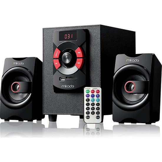 Mikado Md-216Bt 2+1 8W +3W*2 Siyah Usb+Sd+Fm+Bluetooth Destekli Speaker