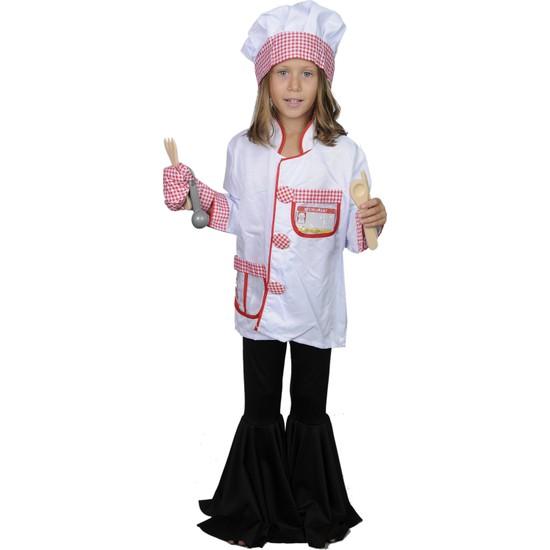 Butikhappykids Unisex Aşçı Kostümü Full Aksesuarlı