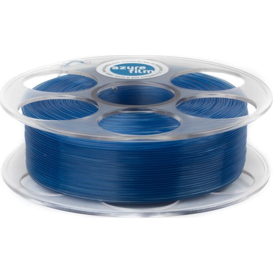 Azure Film PLA Filament - Transparan Mavi 1,75 mm, 1 kg