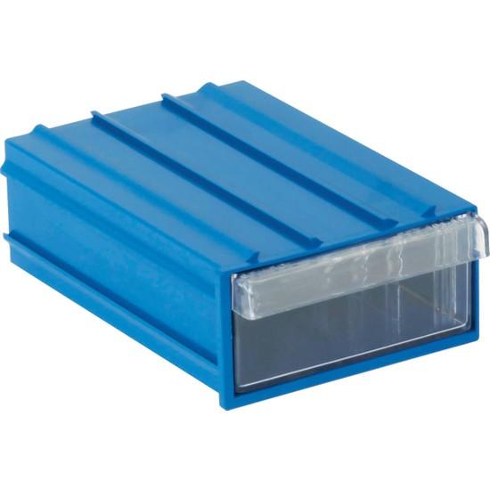 Sembol Plastik Set 102 Mavi Şefaf Plastik Çekmeceli Kutu