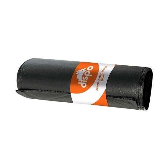 Dispo Çöp Poşeti Optima Jumbo Boy 80 cm x 110 cm Siyah 350 gr 10' lu