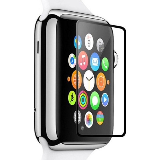 Dafoni Apple Watch Curve Tempered Glass Premium Full Cam Ekran Koruyucu (38 Mm)