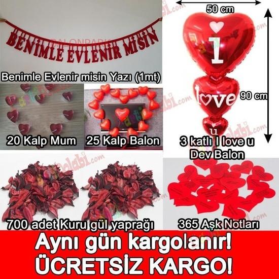 PartiniSeç Sürpriz Evlilik Teklifi, Romantik Mekan Süsleme Hazırlık Paketi