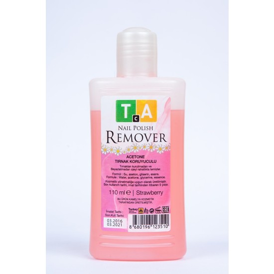 Tca Studio Make-Up Nail Polish Remover Strawberry 110 ml