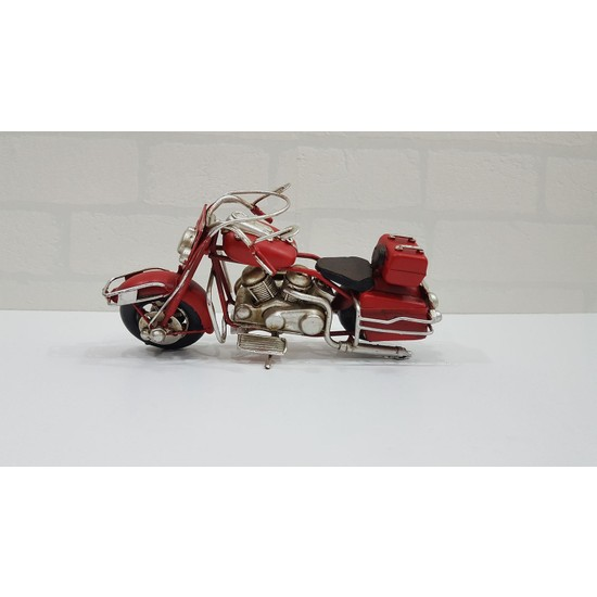 Evim Tatlı Evim Dekoratif Metal Motosiklet Red Wolf 19 cm