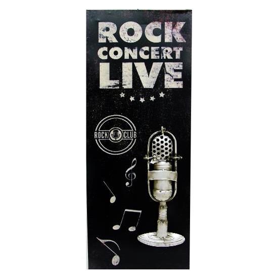 Evim Tatlı Evim Metal 3D Rock Concert Tablo 90 cm