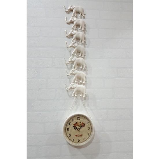 Evim Tatlı Evim Metal 7 Filli Duvar Saati 78 cm