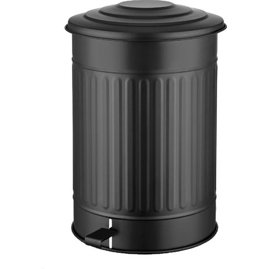 Evim Tatlı Evim Çöp Kovası Mutfak 37 Lt - Siyah