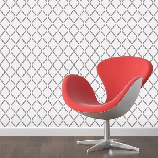 Artikel Desen-1 Stencil Tasarımı 30 x 30 Cm