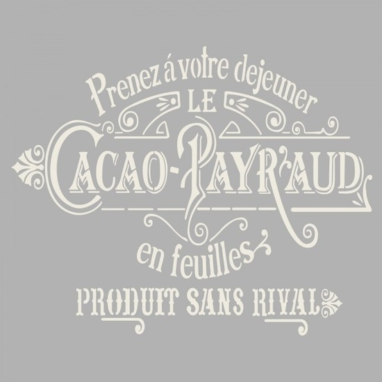 Artikel Cacao Stencil Tasarımı 30 x 30 Cm